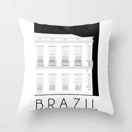 Brazil Facade Throw Pillow