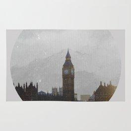 Grungy London Circle Rug