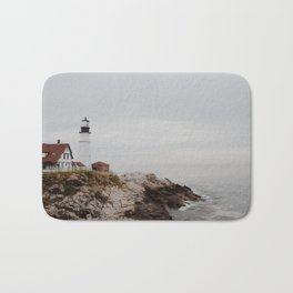 Maine lighthouse Bath Mat