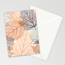 Autumn's Falling Leaves Stationery Cards