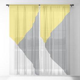 Illuminating meets Ultimate Gray & White Geometric #1 #minimal #decor #art #society6 Sheer Curtain