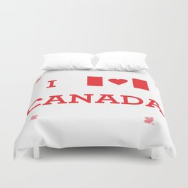 I heart Canada Duvet Cover