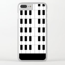 Ebony and Ivory Clear iPhone Case