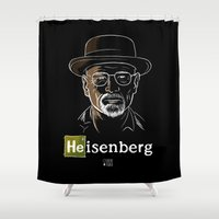 heisenberg Shower Curtains featuring Heisenberg by Caroline Fogaça