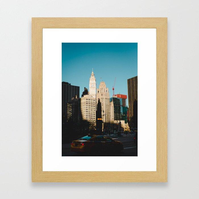 Retro Chicago Framed Art Print