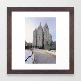 Salt Lake Mormon Temple Framed Art Print