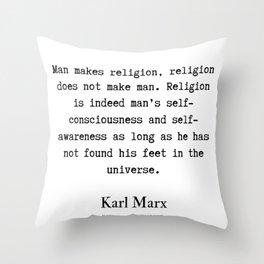 51    Karl Marx Quotes   190817 Throw Pillow