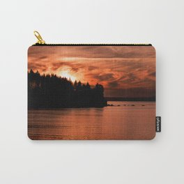 Red Sky At Night Photography Print Carry-All Pouch
