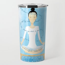 Meditating Woman Travel Mug