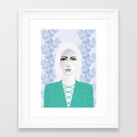 army Framed Art Prints featuring Army Girl by EISENHART