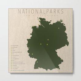 Nationalparks von Deutschland Metal Print