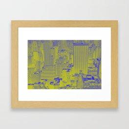 New York Buildings - Green Framed Art Print