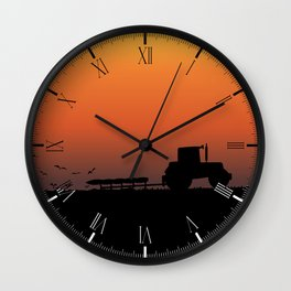 Ploughing the Field Wall Clock
