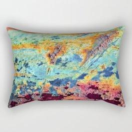 Rusted Ripples Rectangular Pillow