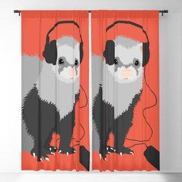 Music Loving Ferret Blackout Curtain