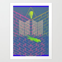 Mastic Axo House Art Print