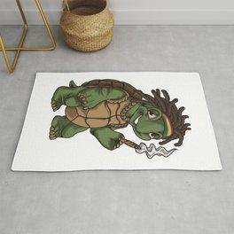 Weed Smoking Turtle | Cannabis THC CBD Rasta Rug