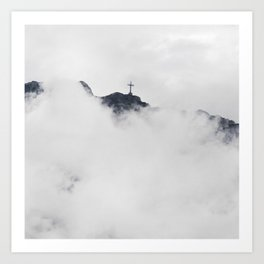 Foggy Faith Art Print
