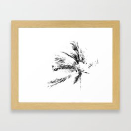 Palm Tree Sketch Framed Art Print