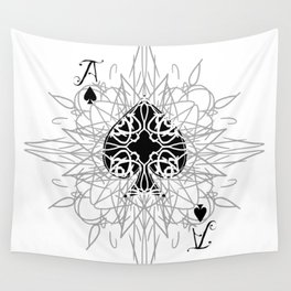 Tribal Mandala Watermark Ace of Spades Wall Tapestry