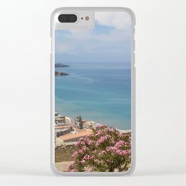 Cefalu view from La Roca Clear iPhone Case