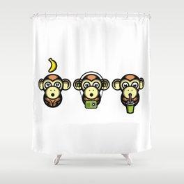 Wiser Monkeys Shower Curtain