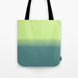 Lime green to dark green gradient boundary spectrum Tote Bag