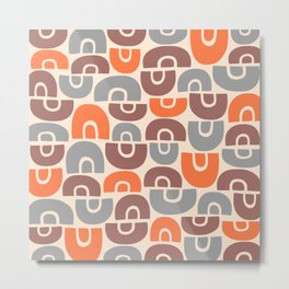 Mid Century Modern Abstract Composition 131 Metal Print