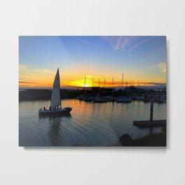 Marina Sunset Metal Print
