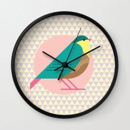 cute bird illustration Wall Clock