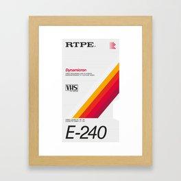 Dynamic – VHS poster Framed Art Print