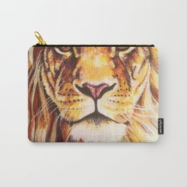 Lion drawing, pastel pencils Carry-All Pouch
