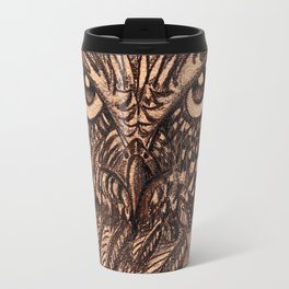 Fierce Brown Owl Travel Mug