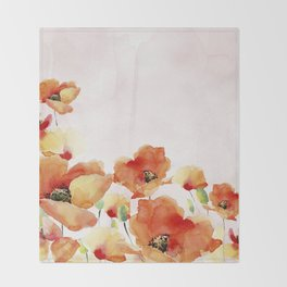 Beautiful Poppies #society6 Throw Blanket