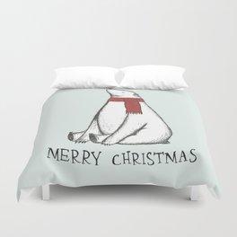 Sleepy Christmas Polar Bear Duvet Cover