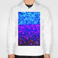 sparkles Hoodies featuring Sparkles Glitter Blue by Saundra Myles