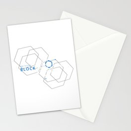 Blockchain Crypto Bitcoin Geek Stationery Cards