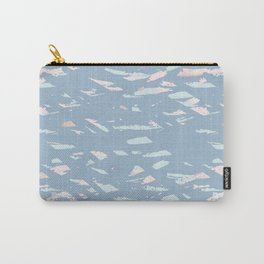 Blue and Gold terrazzo Carry-All Pouch