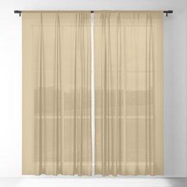 Valspar America Earthen Sienna Beige Brown 3007-5B Solid Color Sheer Curtain