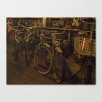 bicycles Canvas Prints featuring Bicycles by Gurevich Fine Art