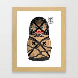 Bondage Matryoshka/Nesting Doll Framed Art Print