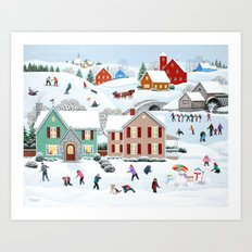 Once Upon a Winter Art Print