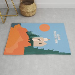 Sea Breeze Sunset In Acadia National Park Rug