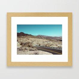 Californian desert Framed Art Print
