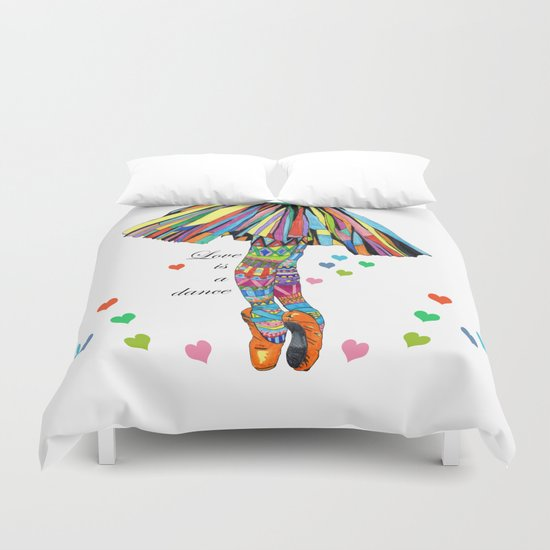 LOVE IS A DANCE Duvet Cover