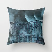 gothic Throw Pillows featuring Gothic by nicky2342
