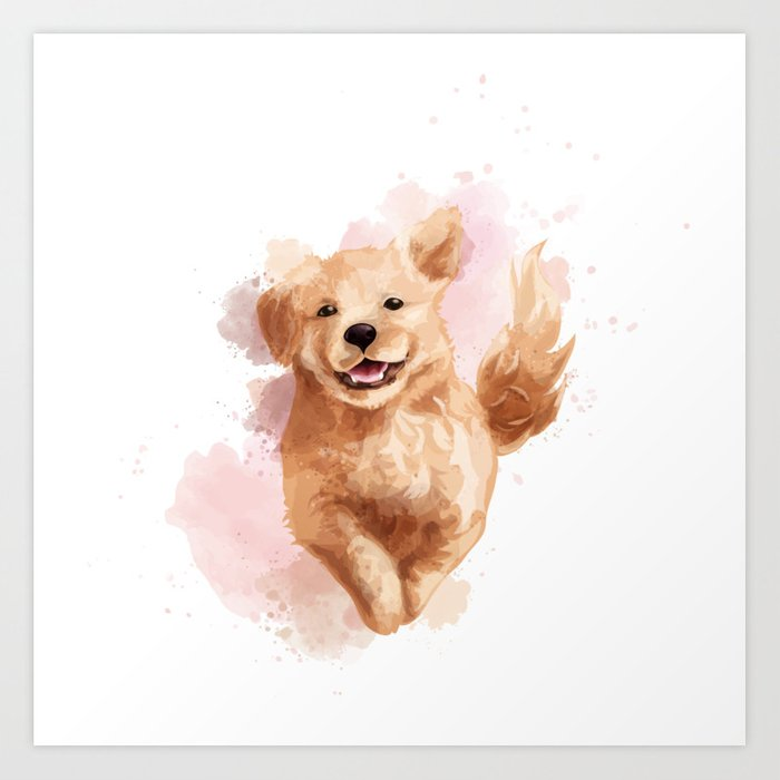 Golden Retriever Puppy Kunstdrucke
