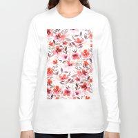 blush Long Sleeve T-shirts featuring Espirit Blush by Jacqueline Maldonado