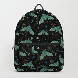 Luna and Moth - Midnight Black Backpack