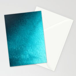 Modern abstract navy blue teal gradient Stationery Cards